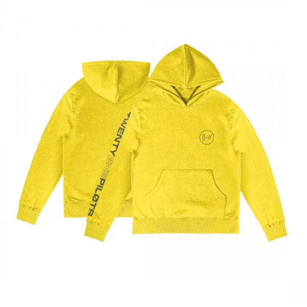Embroidered Logo Yellow Hoodie