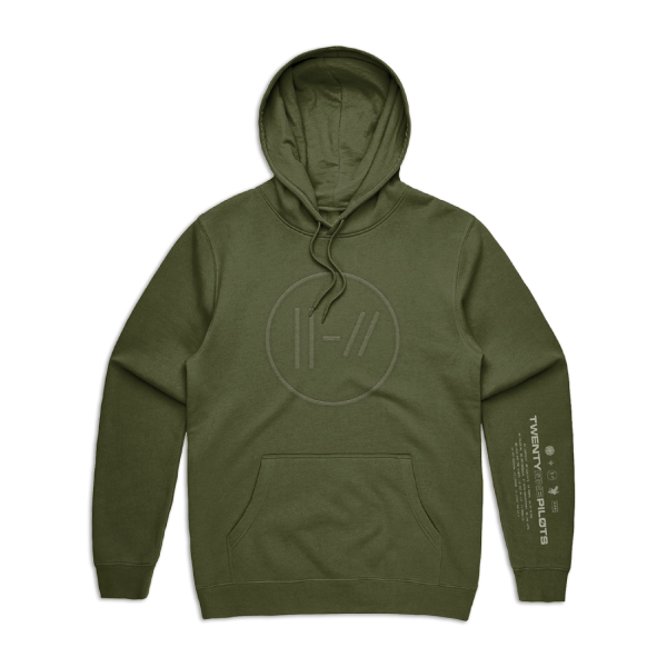 Army Green Hoodie(Embroidered)