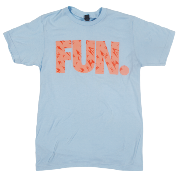 FUN. Light Blue Shard Pattern T-Shirt