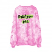 Electra Heart Bubblegum Bitch Sweatshirt Pink Tie Dye