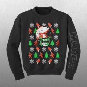Murph Ugly Holiday Sweater Black