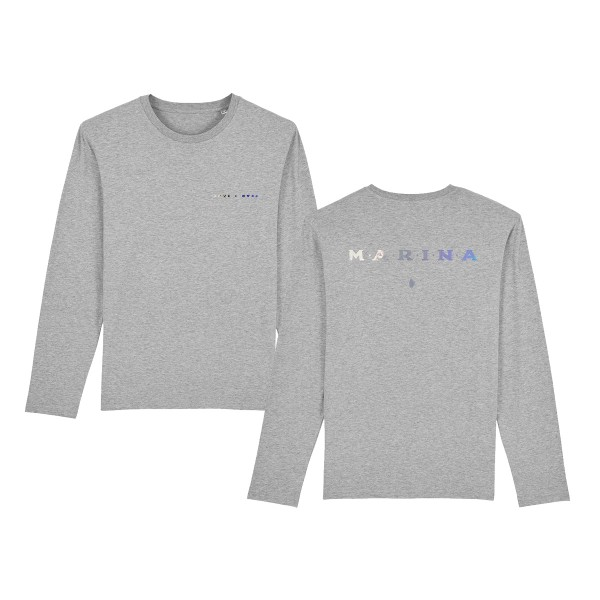 Love + Fear Long Sleeve T-shirt Grey
