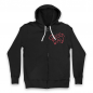 Black Unicorn Zip Up Hoodie