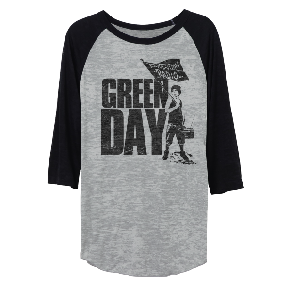 Green Day Represent Burnout Raglan T-Shirt