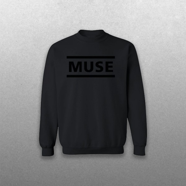 All Black Clean Logo Sweatshirt - MUSE Band Merchandise