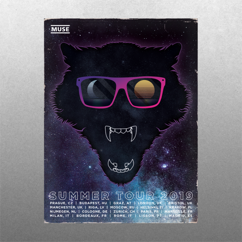 Space Wolf Summer Poster