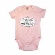 Pink Girls Speech Bubble Babygrow
