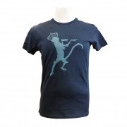 Navy Blue Monkey Print Mens T-Shirt