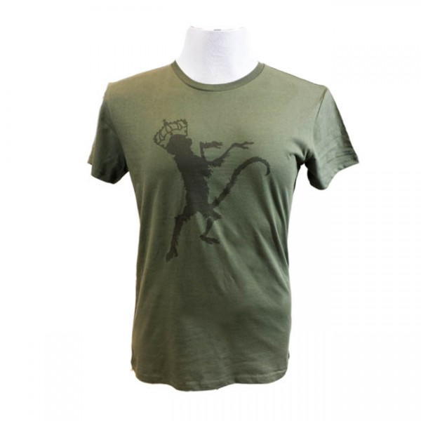 Khaki Monkey Print Mens T-Shirt