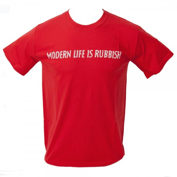 Blur Modern Life Is Rubbish Red T-Shirt
