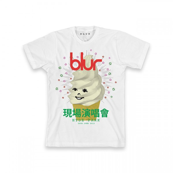 Blur Hyde Park Event White T-Shirt