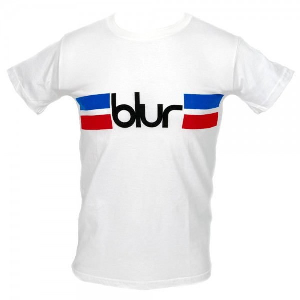 Blur Stripe White T-Shirt