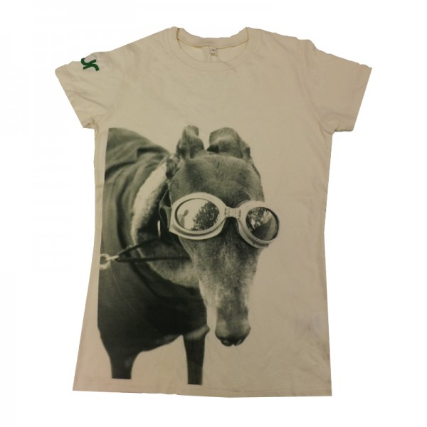 Blur Racing Greyhound Ecru Ladies T-shirt