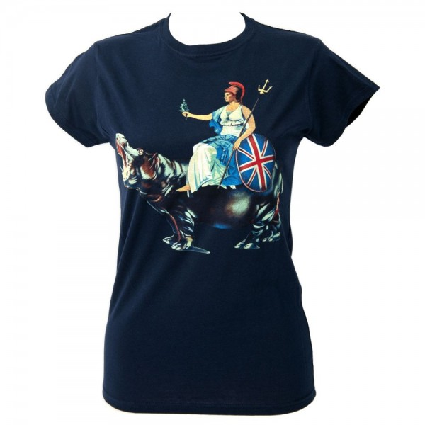 Blur Hyde Park Event Navy Ladies T-Shirt