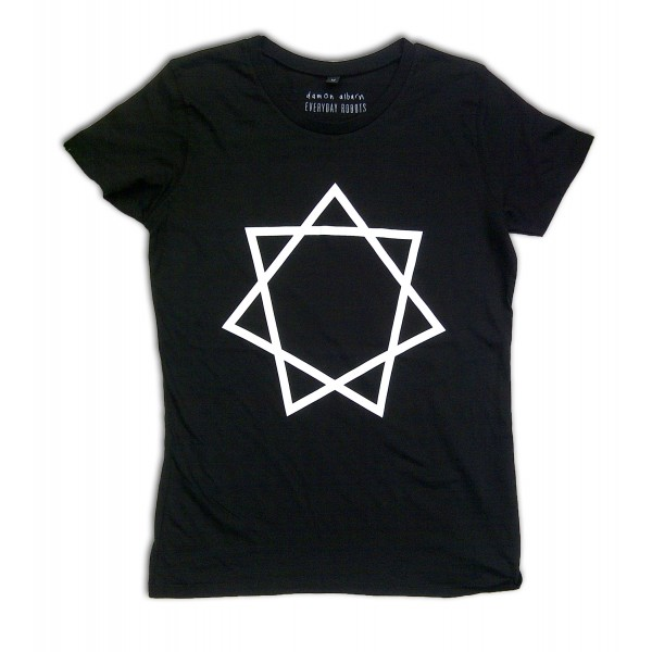 Heptagram Ladies Black T-shirt