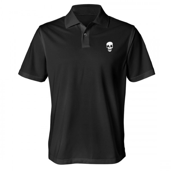 Mouth Skull Slim Fit Polo Shirt