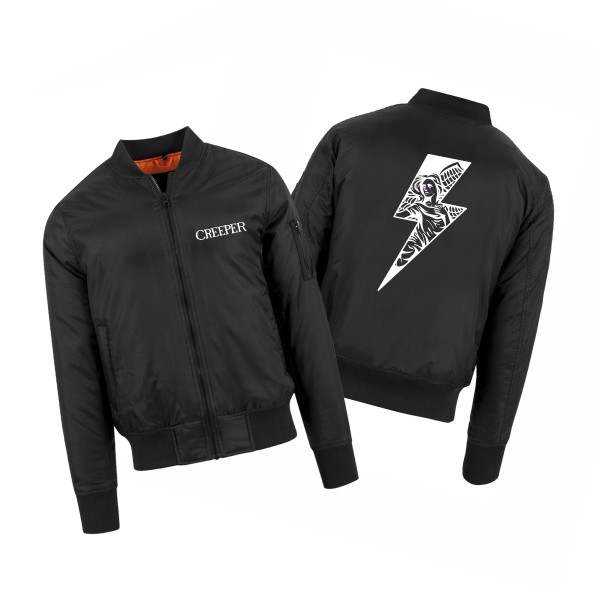 Winter Lightning Bolt Bomber Jacket