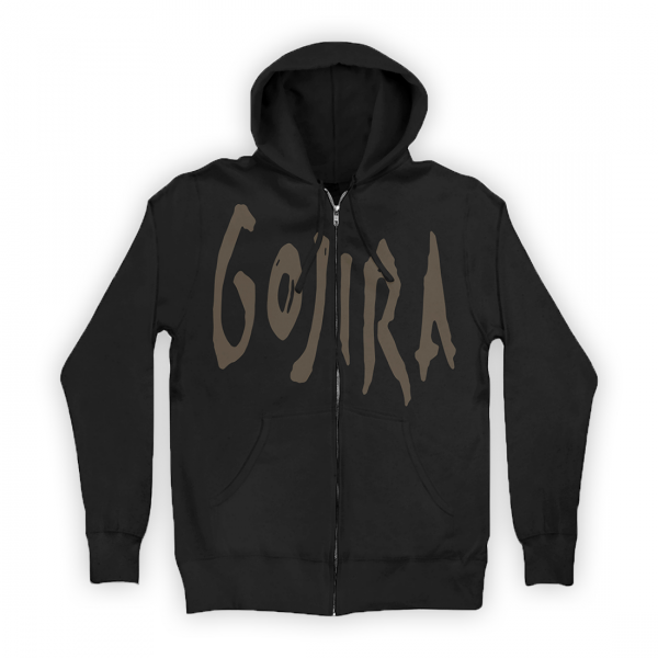 Logo Zip Up Hoodie (Black/Brown)