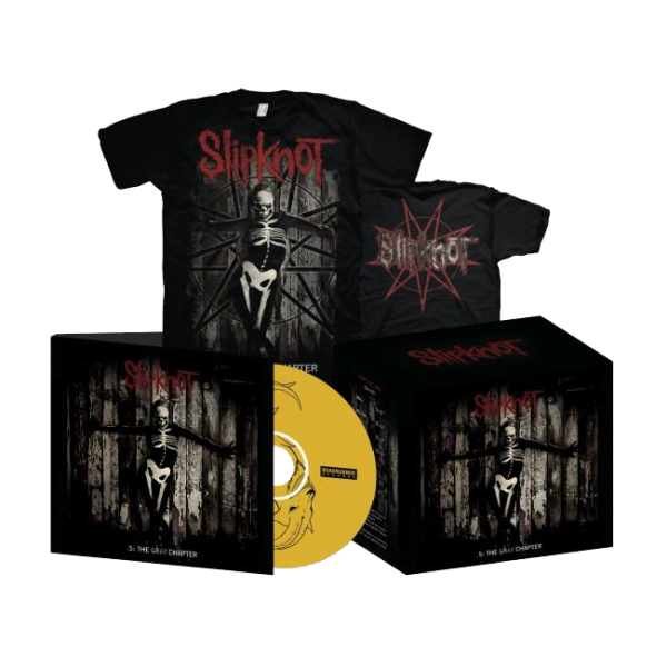 Slipknot .5: The Gray Chapter CD + T-Shirt Box