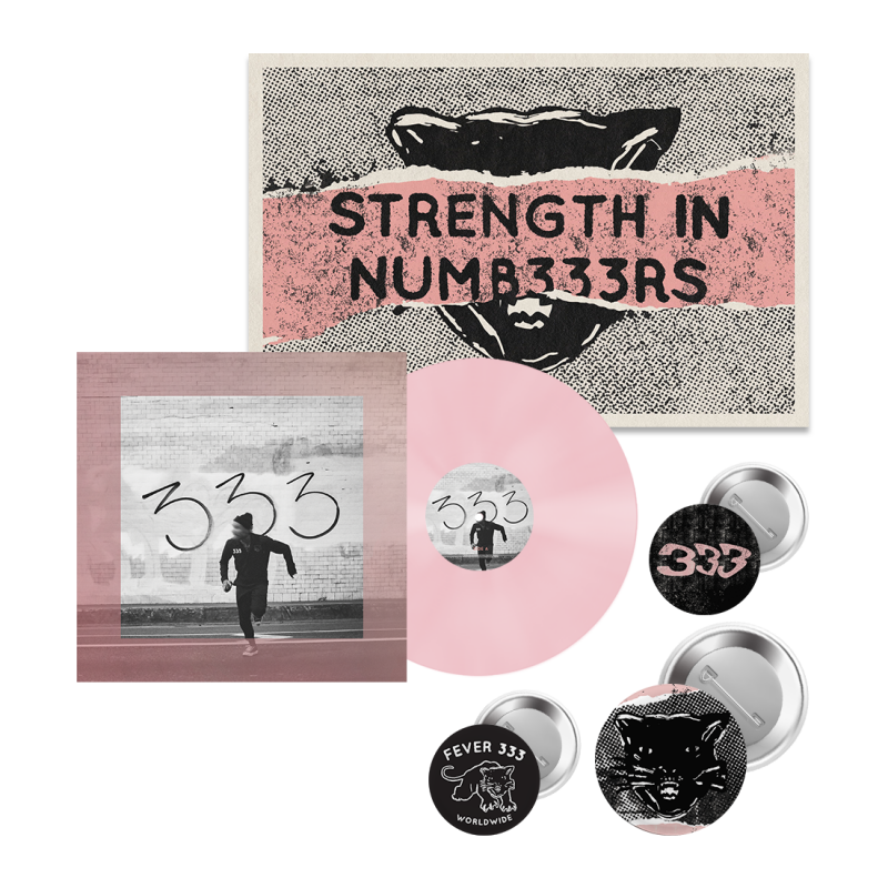 "STRENGTH IN NUMB333RS 12"" Vinyl + Poster + Button Pack"