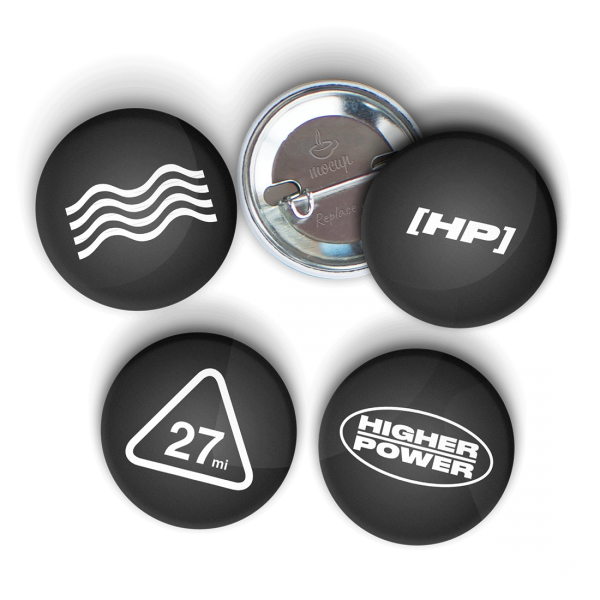 HP Logo Button 4 Pack