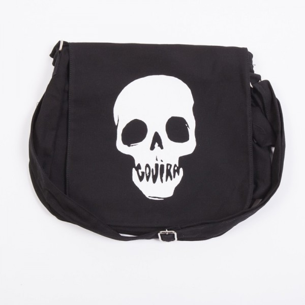 Skull Mouth Messenger Bag Black