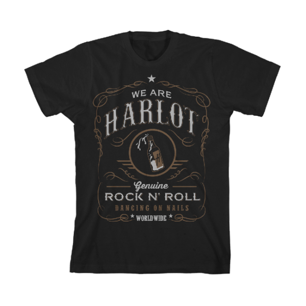 We Are Harlot Whiskey Label T-Shirt