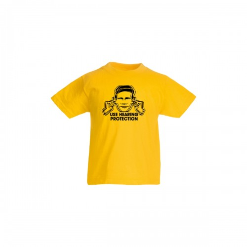 Kids Hearing Protection Yellow T-Shirt