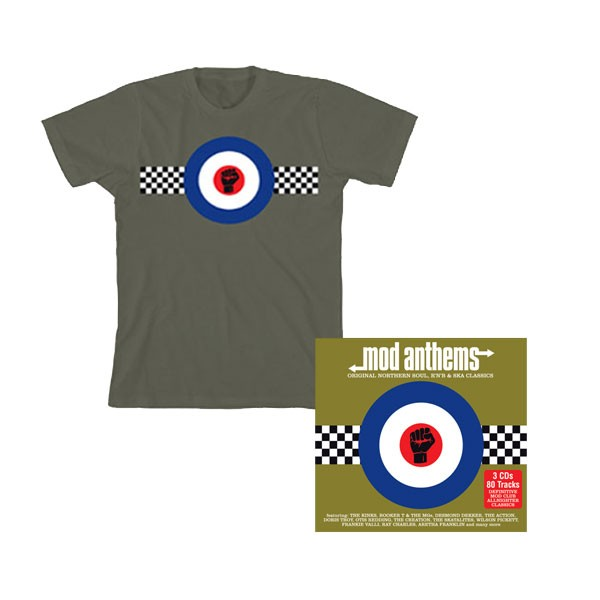 Mod Anthems 3CD + Green T-Shirt Bundle