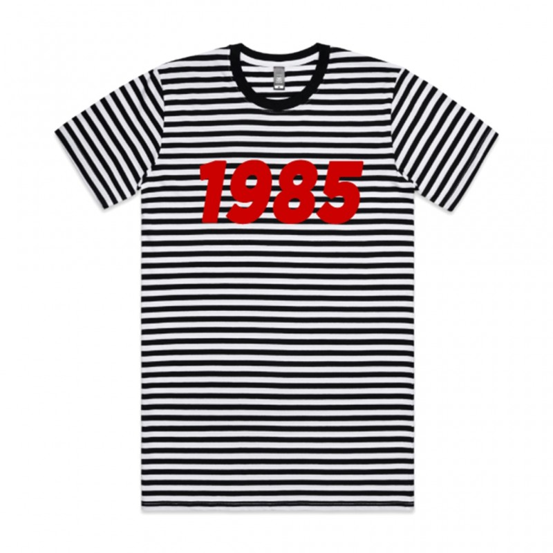 1985 Black and White Stripe T-Shirt