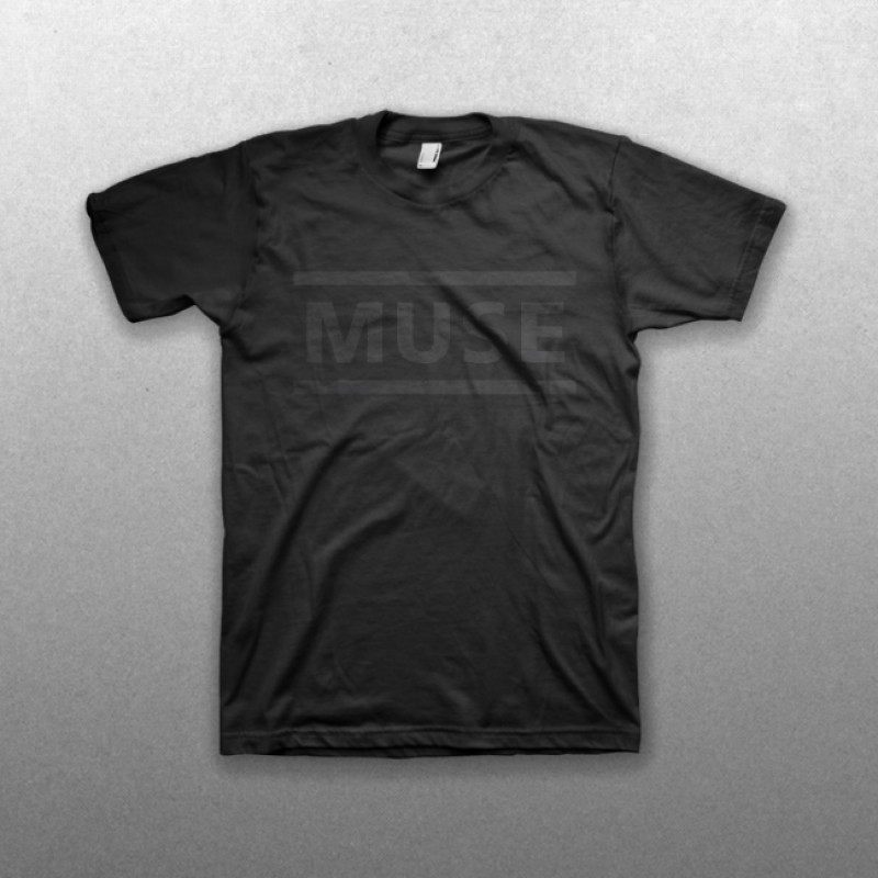All Black Clean Logo T-Shirt - Muse Official Store