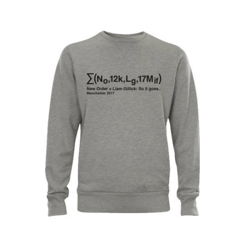 Equation Grey Sweatshirt - Liam Gillick & New Order