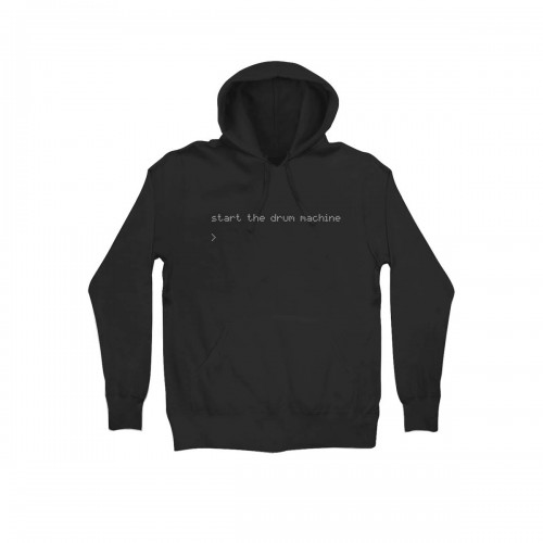 Drum Machine Black Hoodie