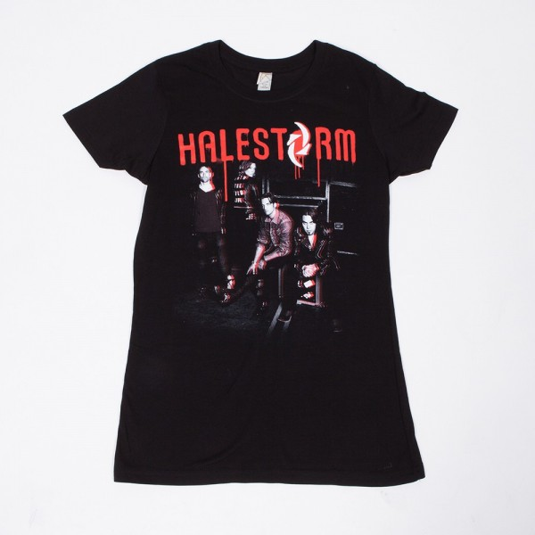 Halestorm Paint Photo Ladies T-Shirt