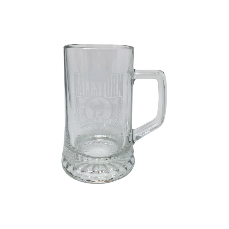 Here's To Us Glass Mug