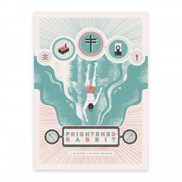 Frightened Rabbit Winter Of Mixed Drinks Anniversary Poster