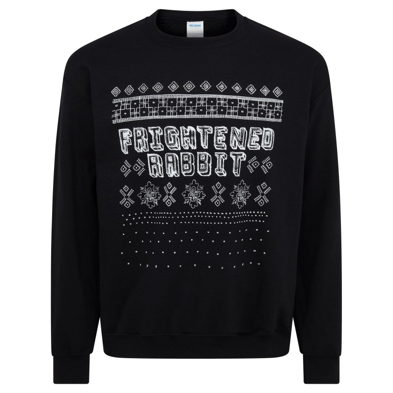 Frightened Rabbit Christmas Black Sweatshirt