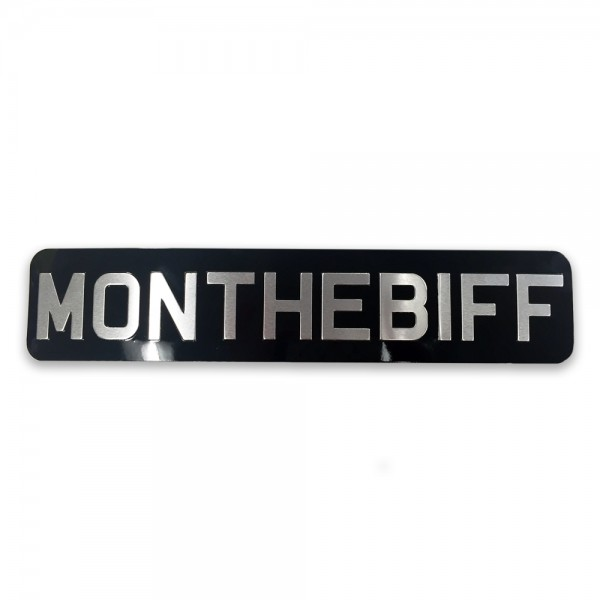 MON THE BIFF Number Plate 1