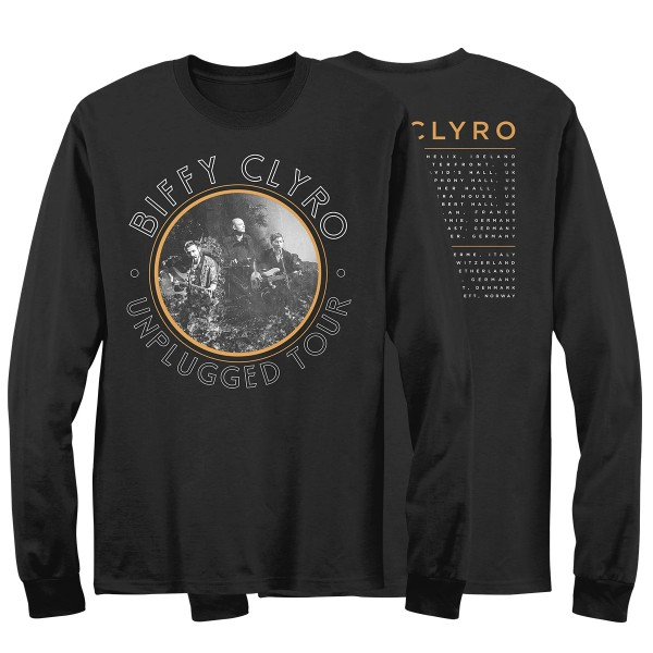 Unplugged Tour Long Sleeve T-Shirt Black