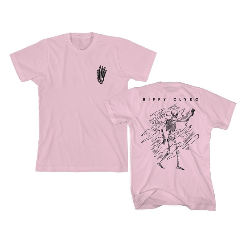 Skeleton Pocket Pink T-Shirt