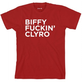 Biffy Fuckin Clyro Red T-Shirt (front)