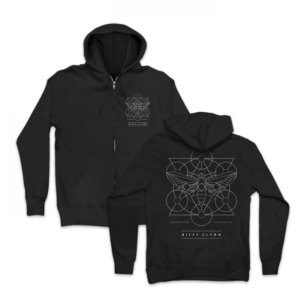 Bellahouston Moth Zip Hoodie