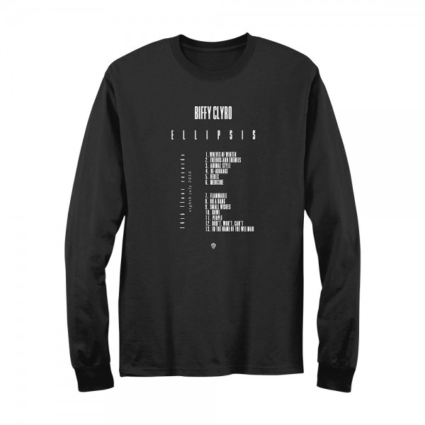 Biffy Clyro - Track List Long Sleeve
