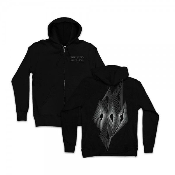 Biffy Clyro - Geometric Diamonds Zip Hoodie (Front/Back)