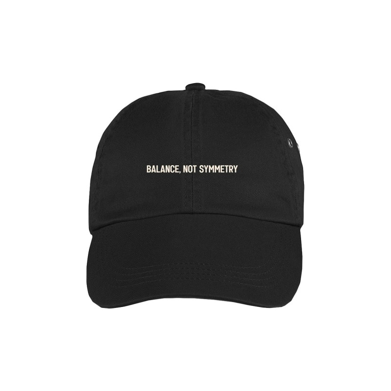 Balance Not Symmetry Cap Black
