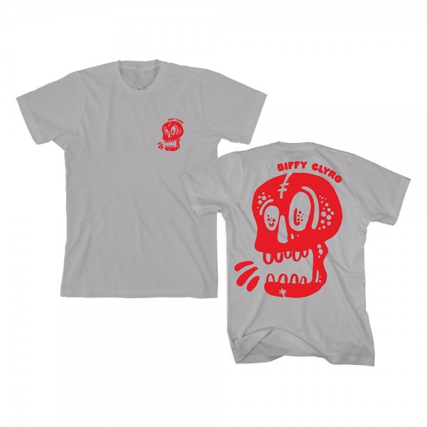 Shouting Skull Grey T-Shirt