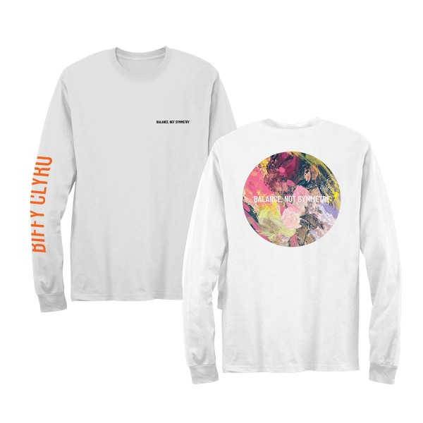 Balance Not Symmetry Long Sleeve T-Shirt White