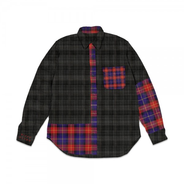 Tartan Embroidered Winter Shacket (Front)