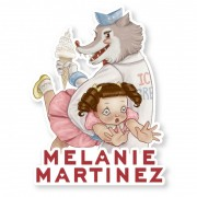 Melanie Martinez Wolf Tag Sticker