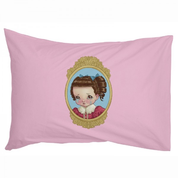 Cameo Pillowcase Cry Face Pink